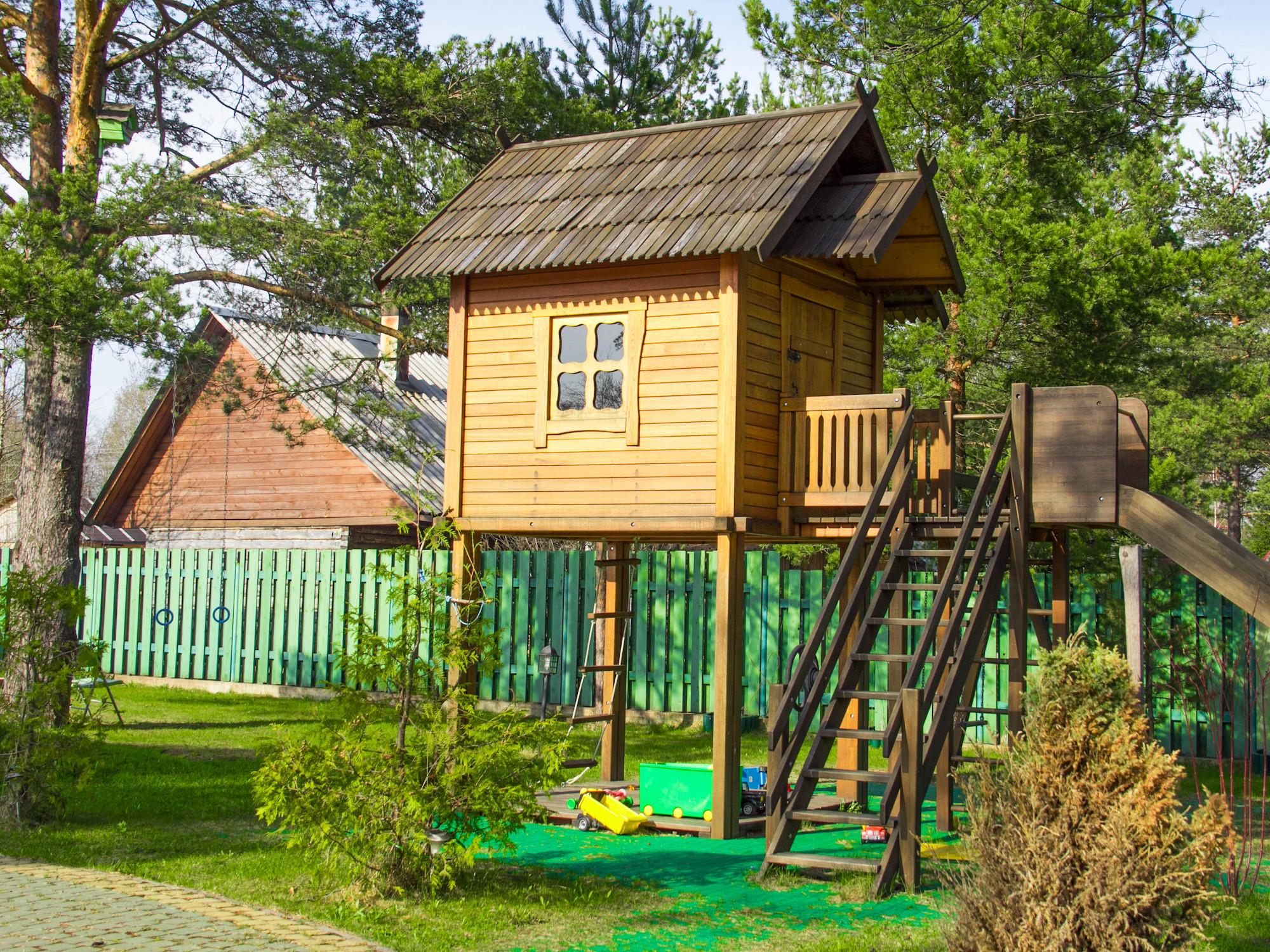 Детский домик на даче фото и идеи